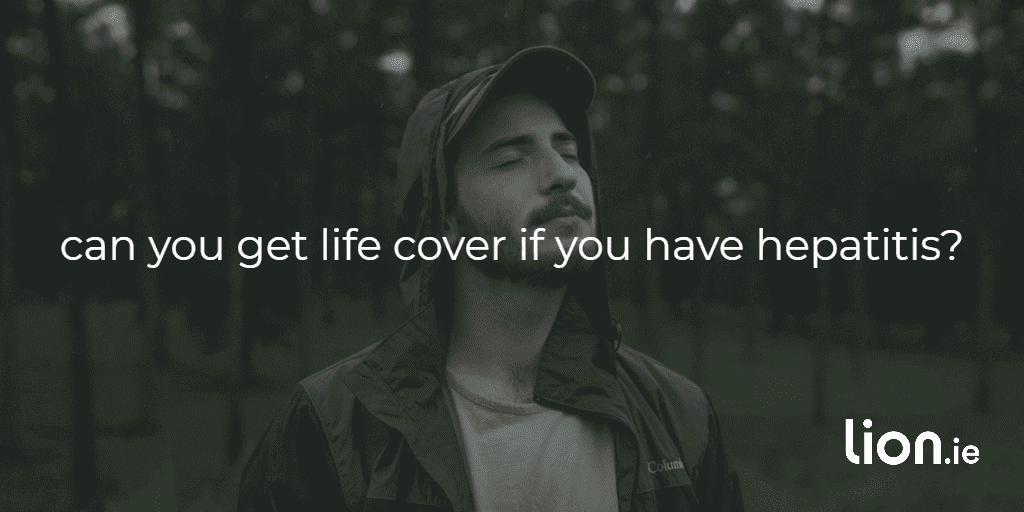 life cover with hepatitis text on image of a man pondering