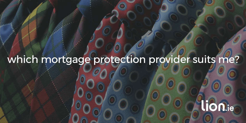 which mortgage protection provider text on an image of a selection of different coloured choice signifying choice
