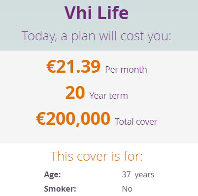 VHI life insurance quote