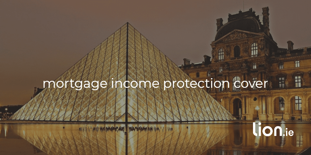 mortgage income protection cover text on a pyramid