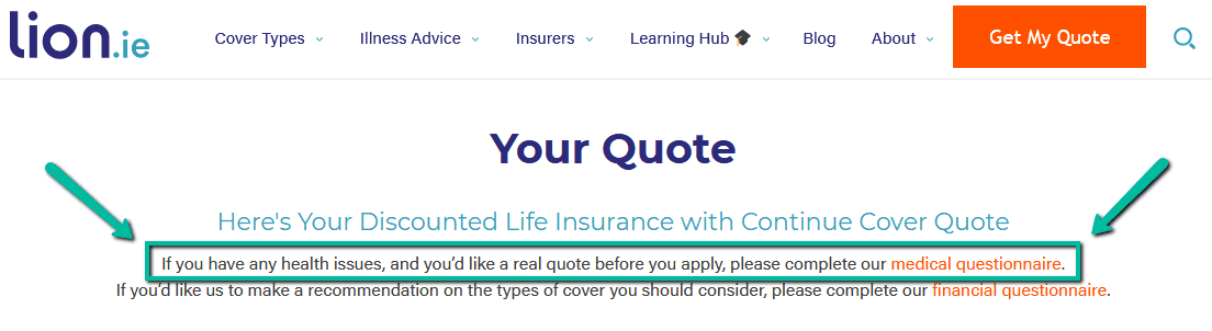 declare health issues for life insurance quote