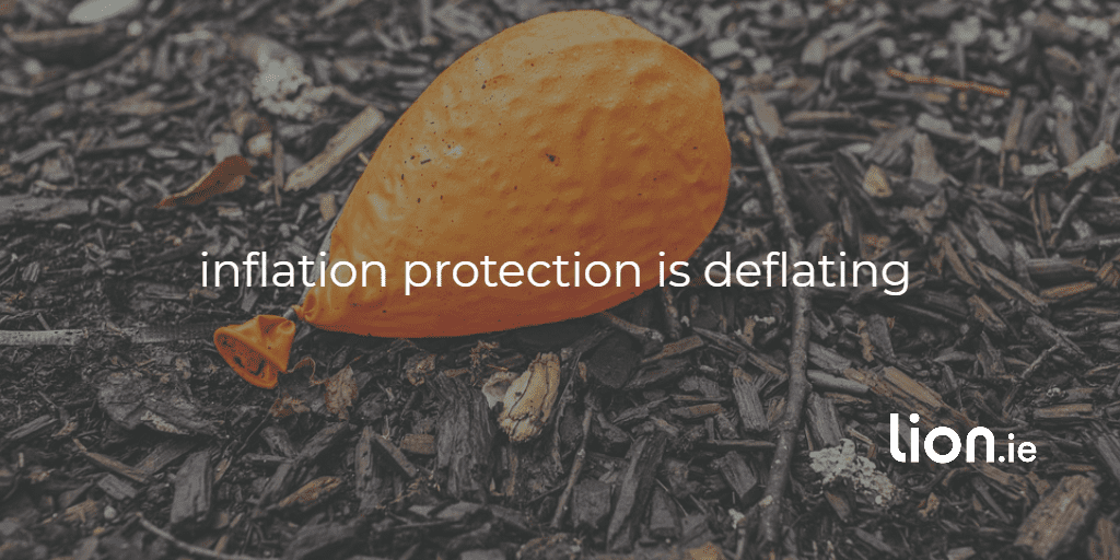 inflation protection is deflating text on a deflated balloon image