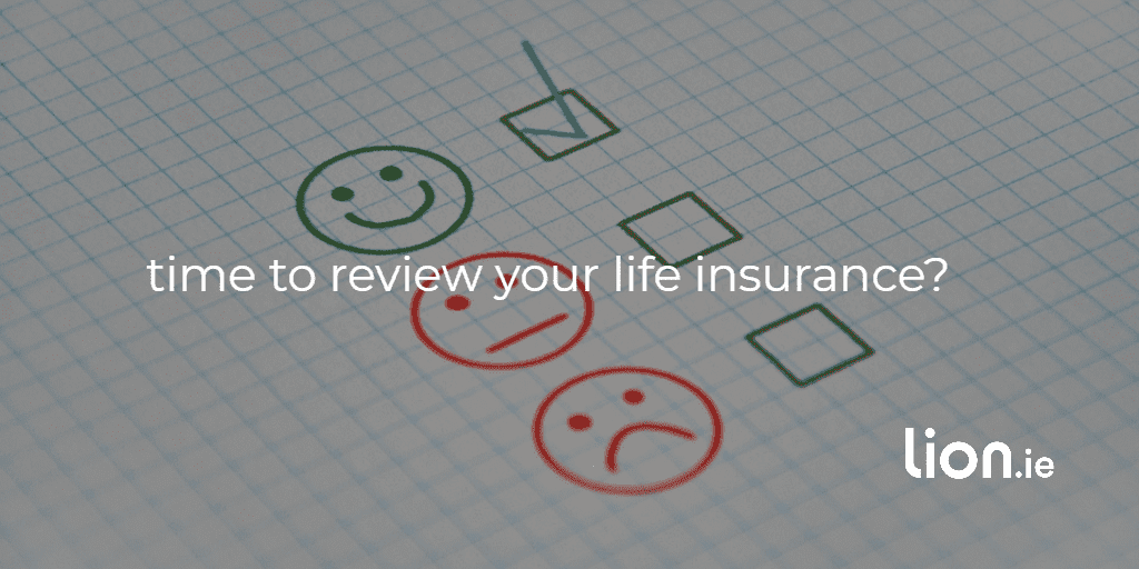 time to review your life insurance text on image of reviews smiley face