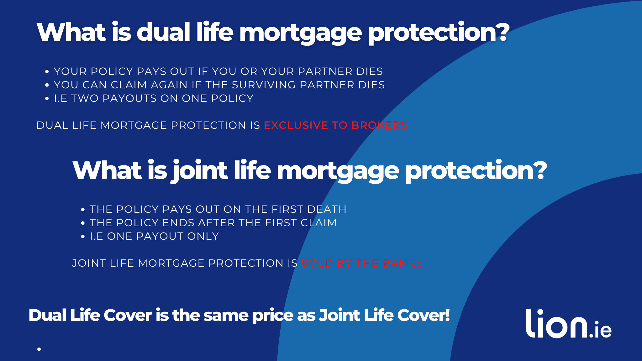 what's the difference between dual and joint life mortgage protection