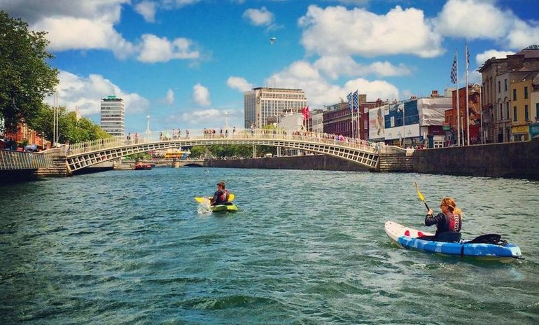 kayaking dublin