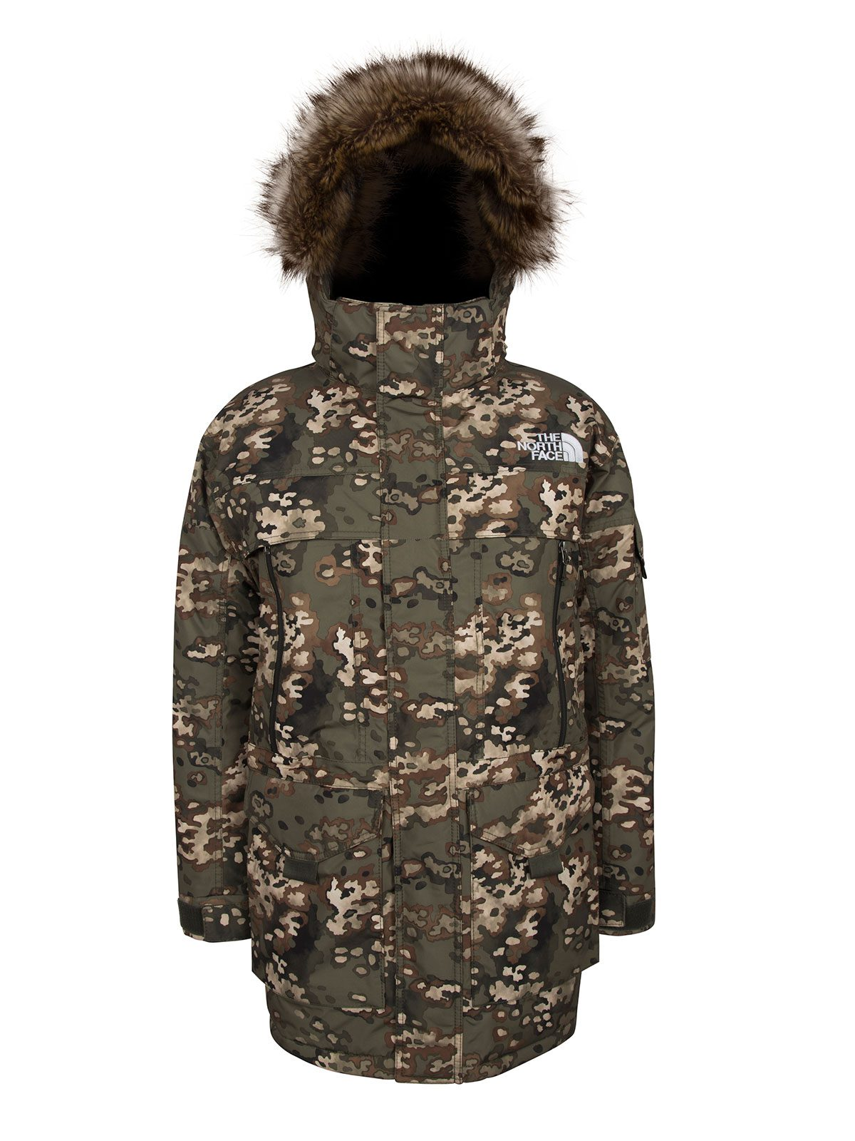 Northface Khaki Camoflage Parka Jacket €420 at Arnotts – Make a Statement