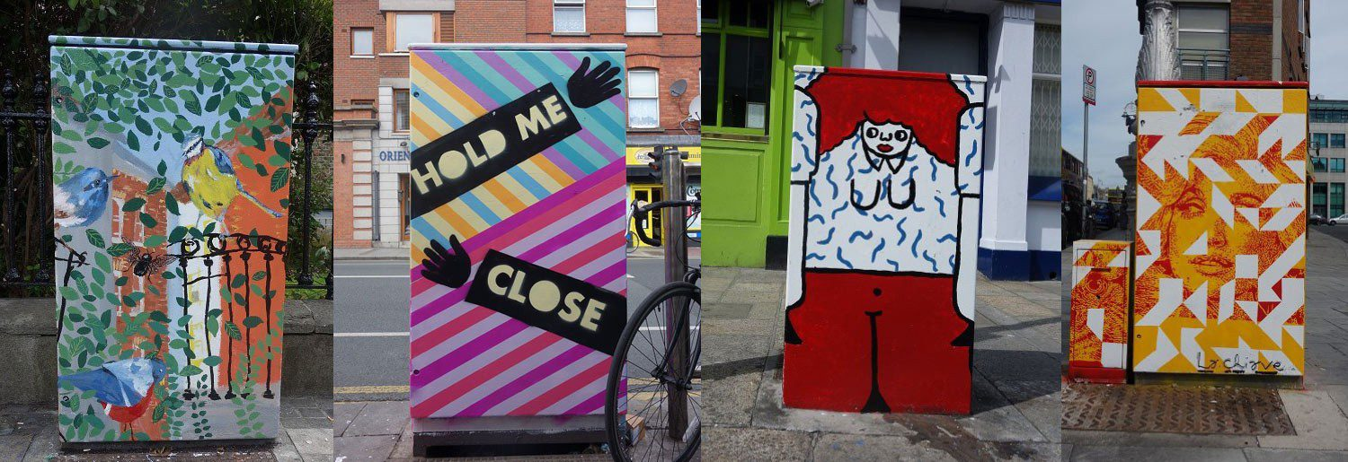 Dublin's Grey Boxes Transformed Into Art