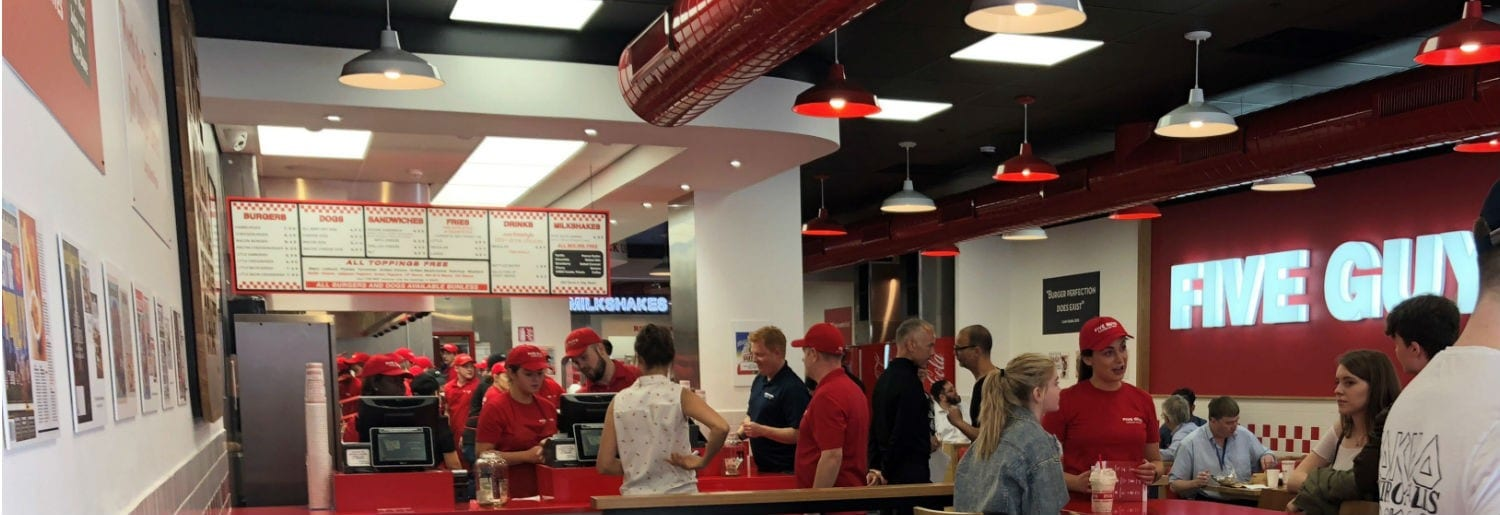 Five Guys Opens in Dublin City