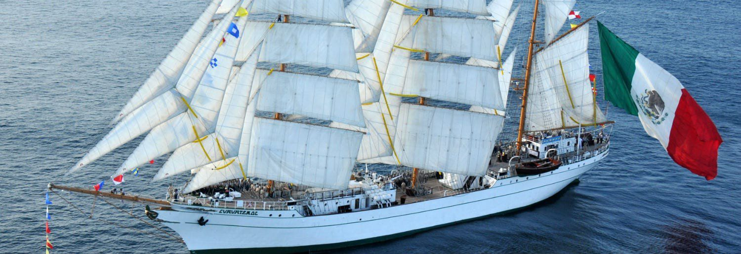 Majestic Mexican Tall Ship is in Dublin