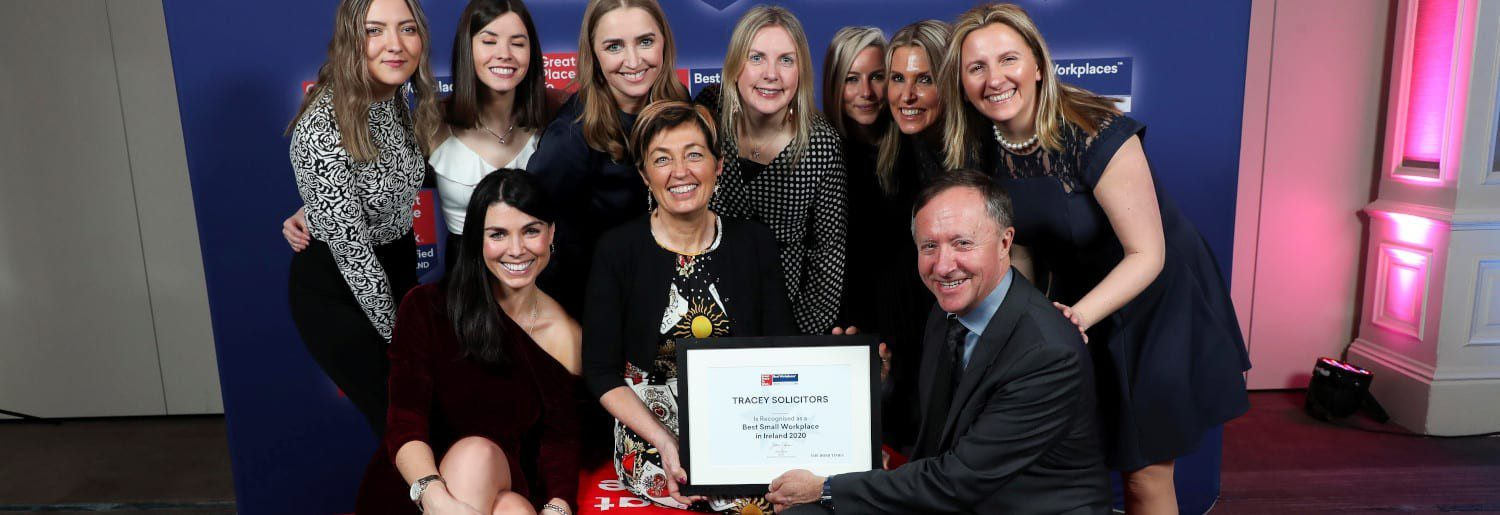 Tracey Solictors Named Best Small Workplace in Ireland