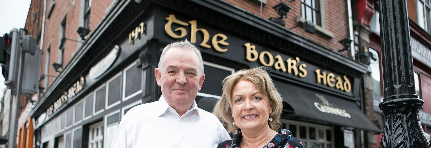 Hugh and Ann Hourican of The Boar's Head