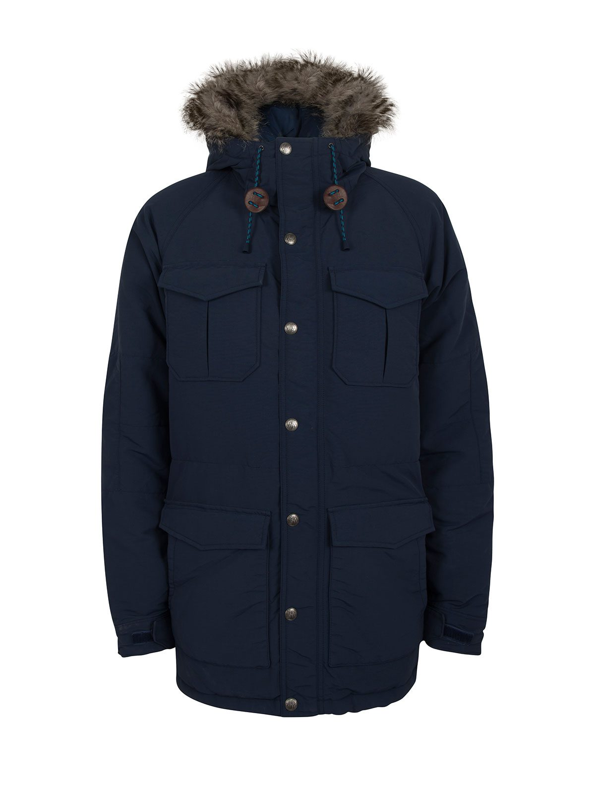 Levis Blue Fur Parka €220 at Arnotts – Cool and Cosy all at Once