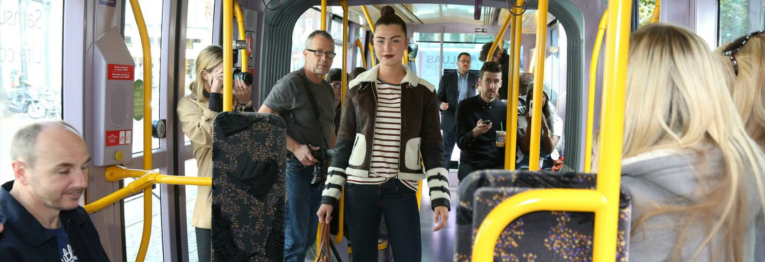 Luas On-Tram Fashion Show with BT2
