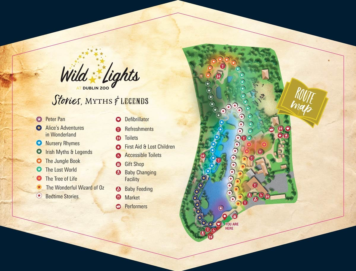 Wild lights Route Map