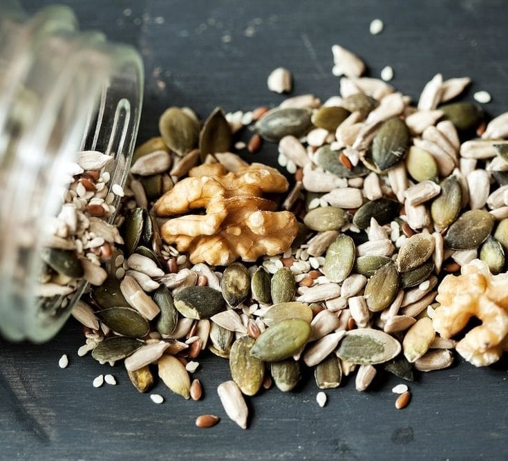 Zinc, Vitamin C found in nuts and seeds
