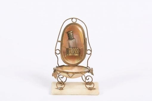 6351 - 19th Century French Mother of Pearl Scent Bottle