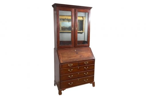 Early 19th Century George III Mahogany Bureau Bookcase