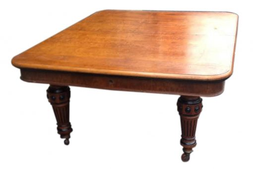 19th Century Oak Dining Table by 'Robert Strahan' Dublin