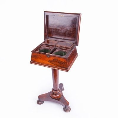 Early 19th Century William IV Rosewood Teapoy