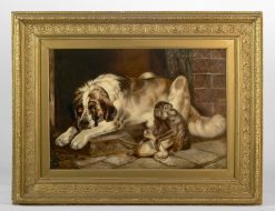 19th Century Painting, 'Animal Scene' - William Hunt