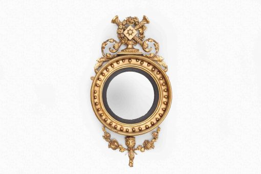 Early 19th Century Regency Circular Convex Mirror