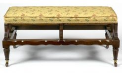 19th Century Walnut Ottoman