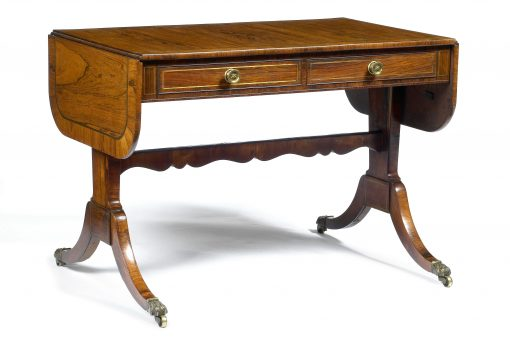 Early 19th Century Regency Rosewood Sofa Table