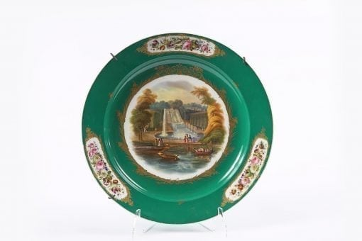 7687 - 19th Century Porcelain Charger in the Sevres Style