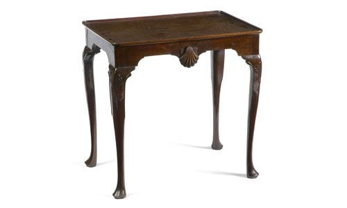 19th Century Mahogany Silver Table