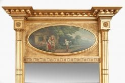 7762 - Early 19th Century Regency Giltwood Pier Trumeau Mirror