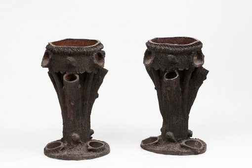 Early 19th Century Pair of Terracotta Planters Stands