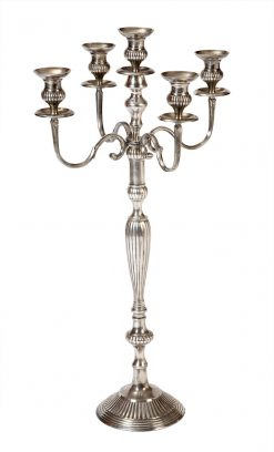 Early 19th Century George III Silver Plated Candelabra
