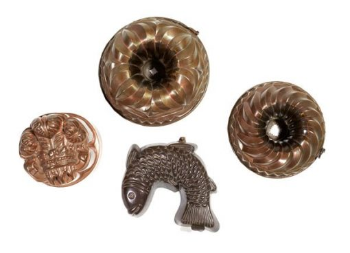 19th Century Victorian Copper Jelly Moulds
