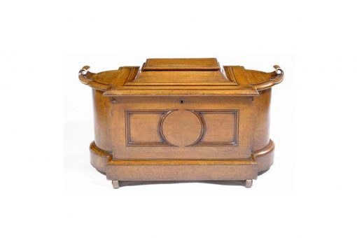 Early 19th Century Oak Sarcophagus Shaped Wine cooler
