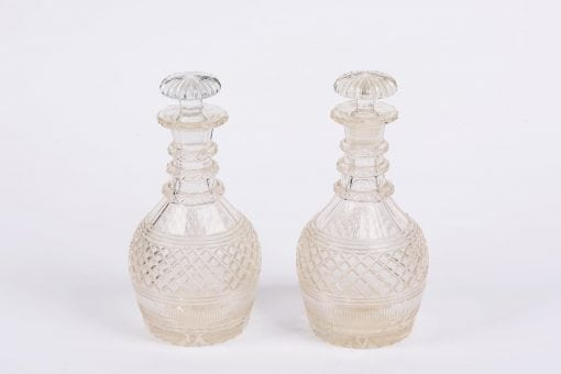 8021 - Early 19th Century Regency Cutglass Pair of Decanters