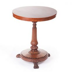 19th Century Circular Mahogany Tip Up Occasional Table