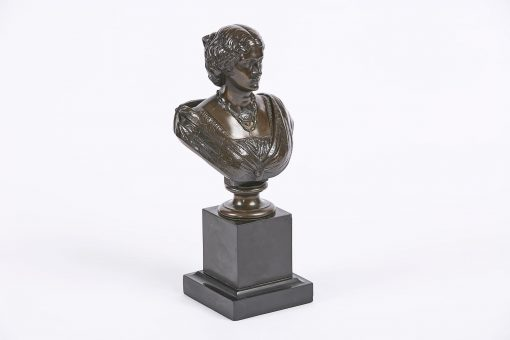 8391 - 19th Century Bronze Bust of Empress Eugenie, by Auguste Cle?singer, (French, 1814-1883), Signed