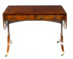 Early 18th Century Regency Plum Pudding Sofa Table