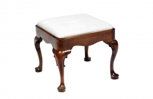 18th Century George III Mahogany Stool