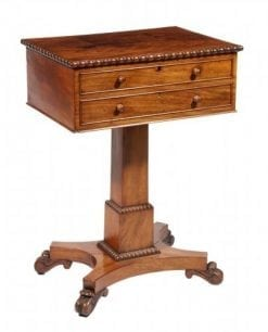 8478 - Early 19th Century William IV Mahogany Work Table