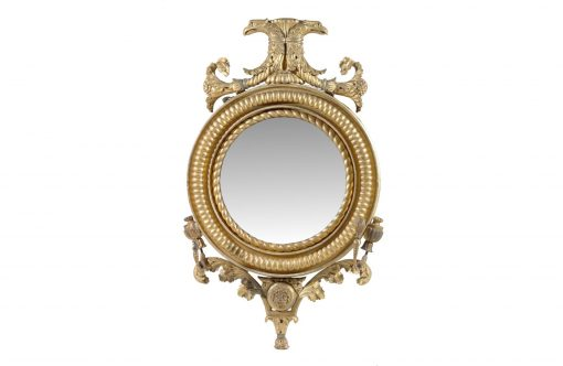 8481 – Early 19th Century Gilt Convex Mirror