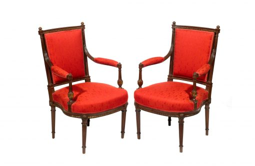 19th Century Pair of French Empire Chairs