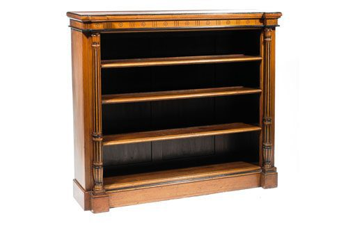 Early 19th Century George III Oak Open Books Shelves by Robert Strahan and Sons