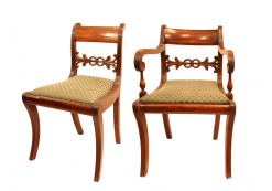 Early 19th Century Set of Eight Regency Dining Chairs