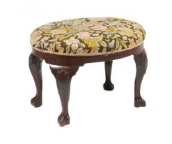 19th Century Mahogany Oval Stool