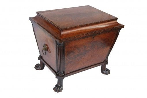 Early 19th Century Mahogany Inlaid Wine Cooler