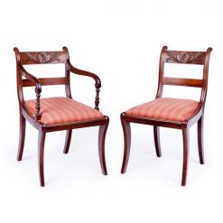 Early 19th Century Regency Set of Eight Dining Chairs
