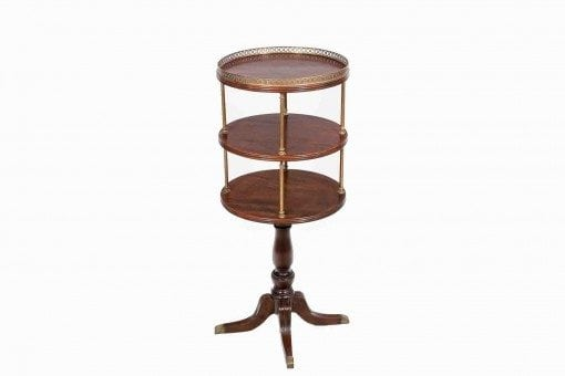 19th Century Mahogany Three Tier Dumbwaiter