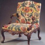18th Century George II Pair of Walnut Gainsborough Armchairs