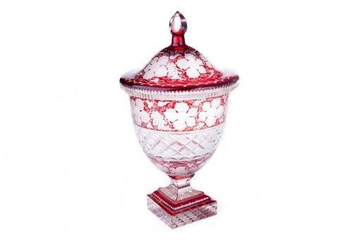 Early 19th Century George III Bohemian Cranberry Glass Urn